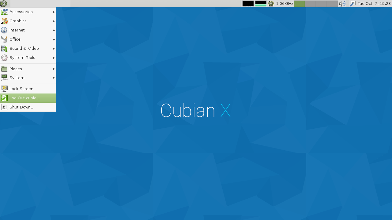 Cubian X1 desktop screenshot