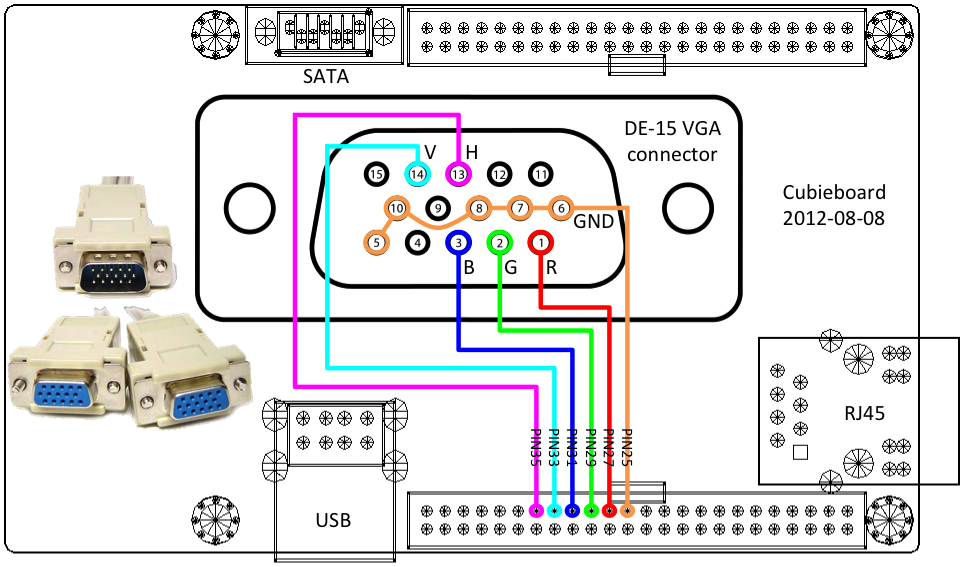 VGA Connector Wiring Diagram on t1 cable wiring diagram