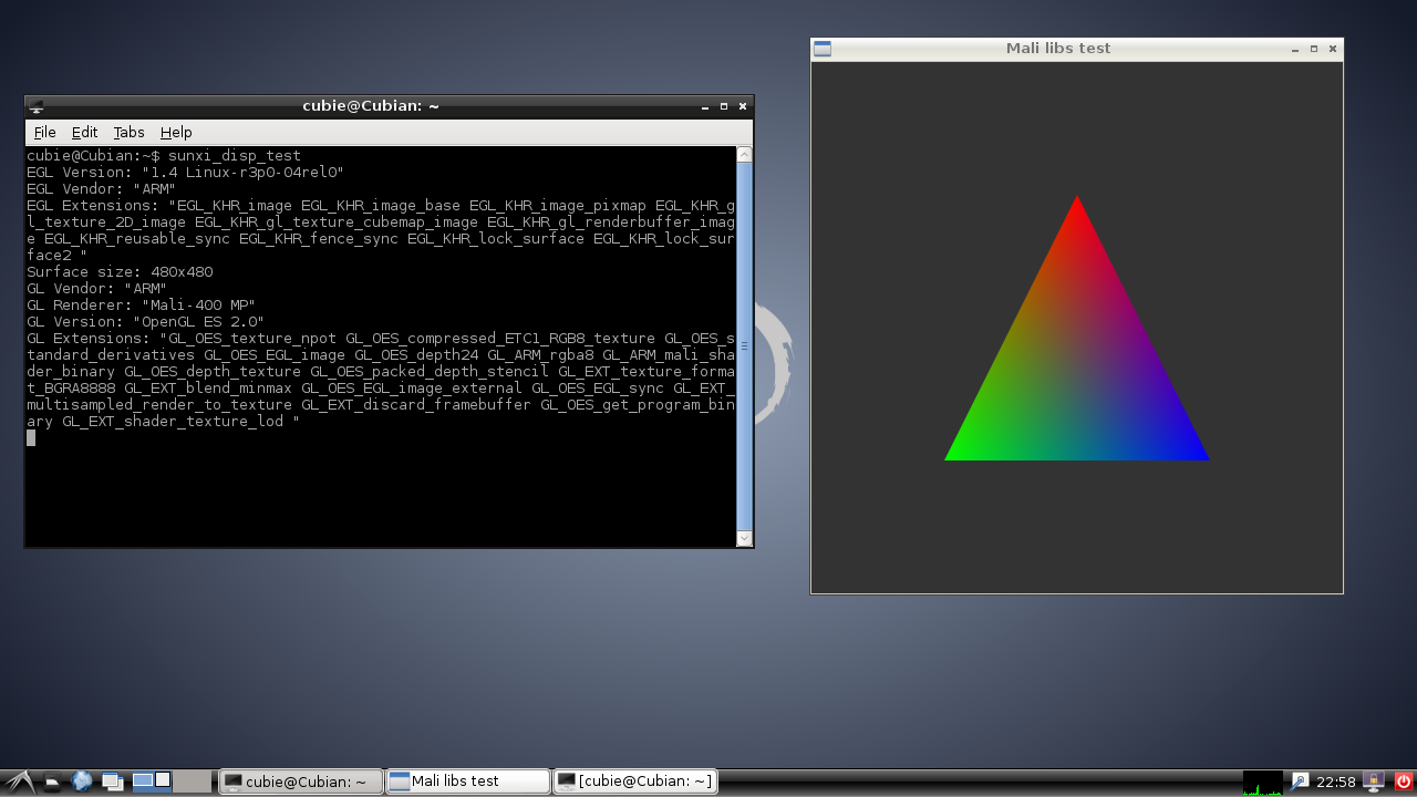 Install LXDE with opengles accelerated on cubian